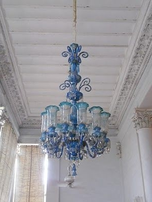 Most Recently Released Turquoise Blown Glass Chandeliers In Opulent Turquoise Blown Glass Chandelier (View 6 of 10)