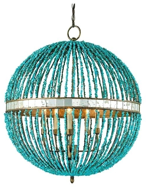 Most Recently Released Turquoise Pendant Lighting Ing Turquoise Glass Pendant Lighting With Turquoise Pendant Chandeliers (View 4 of 10)