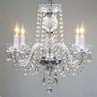 Most Up To Date 4 Light Crystal Chandeliers Intended For Gallery Lighting 275 4 4 Light Crystal Chandelier – Homeclick (View 8 of 10)