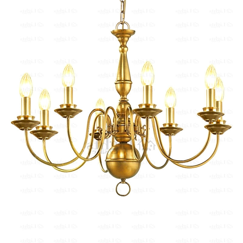 Most Up To Date 8 Light E12/e14 Screw Base Brass Chandeliers Within Brass Chandeliers (View 8 of 10)