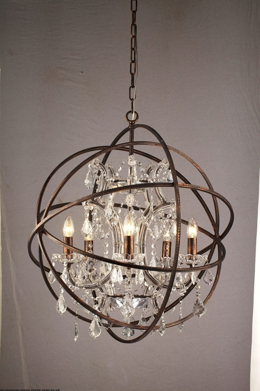 Most Up To Date Alluring Orb Chandelier Gold In Innovative Lighting Crystal Within Orb Chandeliers (View 4 of 10)