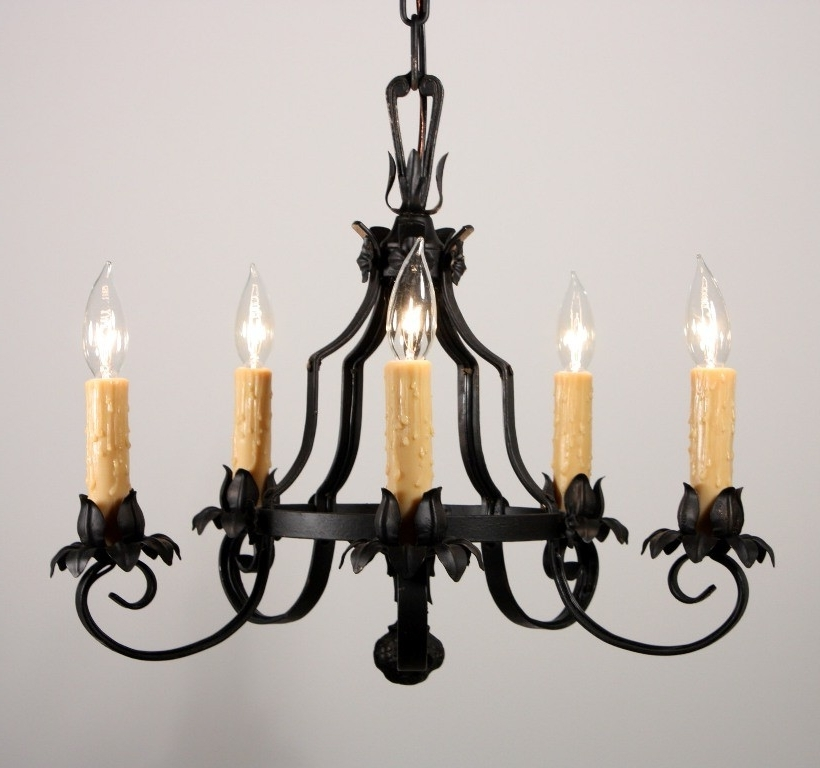 Most Up To Date Antique Wrought Iron Chandeliers Fallcreekonline Antique Wrought Pertaining To Vintage Wrought Iron Chandelier (View 5 of 10)
