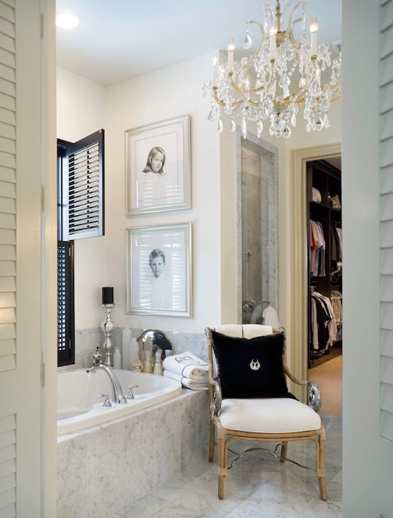 Most Up To Date Appealing Bathroom Crystal Chandelier In French Joy Tribout (View 7 of 10)