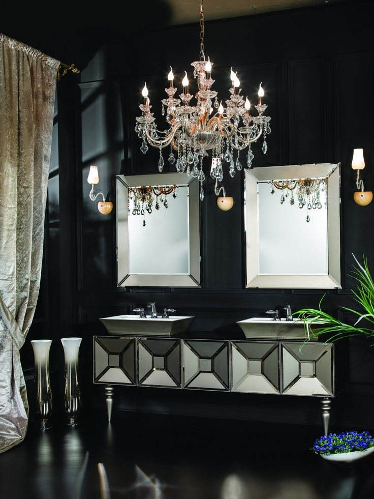 Most Up To Date Bathroom Lighting With Matching Chandeliers Throughout 20 Best His & Hers Bathroom Designs Images On Pinterest (View 10 of 10)