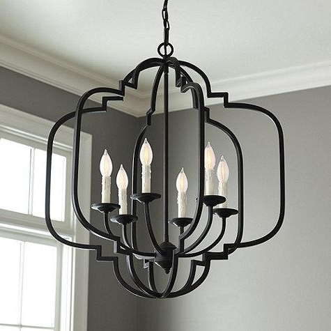 Most Up To Date Black Geometric Chandelier Regarding Antique Black Chandelier (View 6 of 10)
