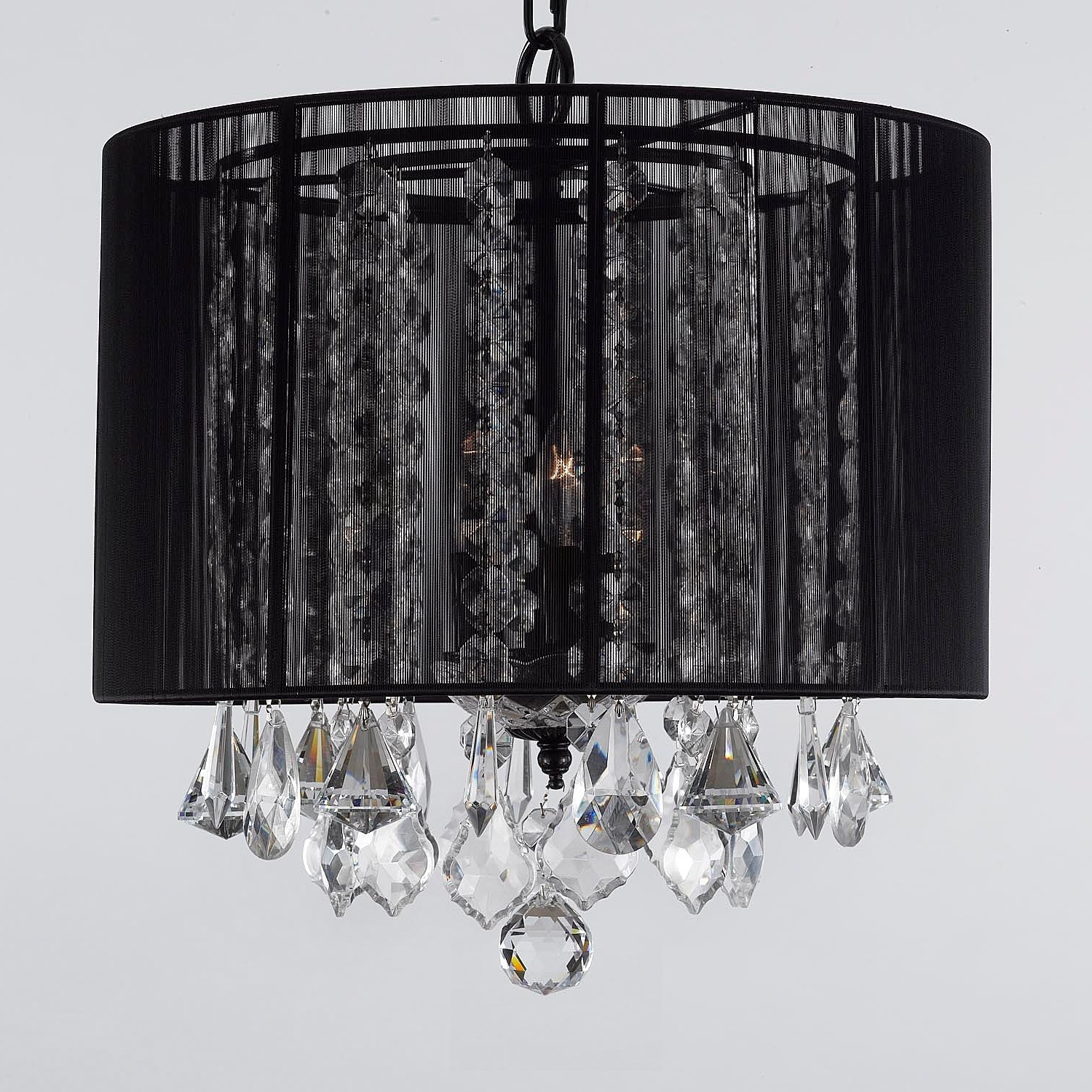 Most Up To Date Black Shade Chandelier – Spurinteractive With Regard To Chandeliers With Black Shades (View 7 of 10)