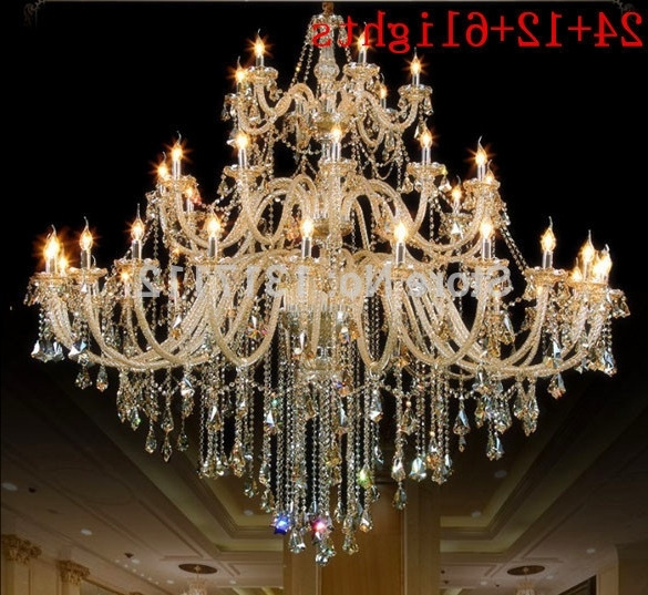 Most Up To Date Chandelier Lights Inside Largest Crystal Chandelier Multi Lights Chandelier 110~240V Hotel (View 7 of 10)