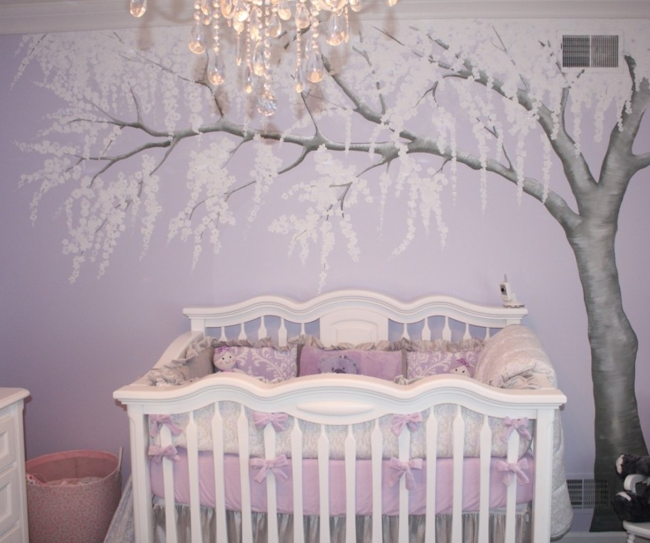 Most Up To Date Crystal Chandeliers For Baby Girl Room Inside Baby Nursery Adorable Baby Room Design Idea Using White Crib And (View 8 of 10)