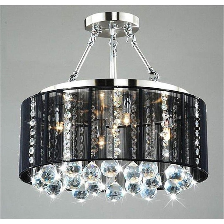Most Up To Date Crystal Chandeliers With Shades For Crystal Chandelier Lamp Shades Attractive Black Light Lighting  (View 8 of 10)