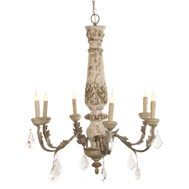 Most Up To Date Distressed White Crystal French Chandelier – Shabby Chandeliers With French Chandeliers (View 6 of 10)