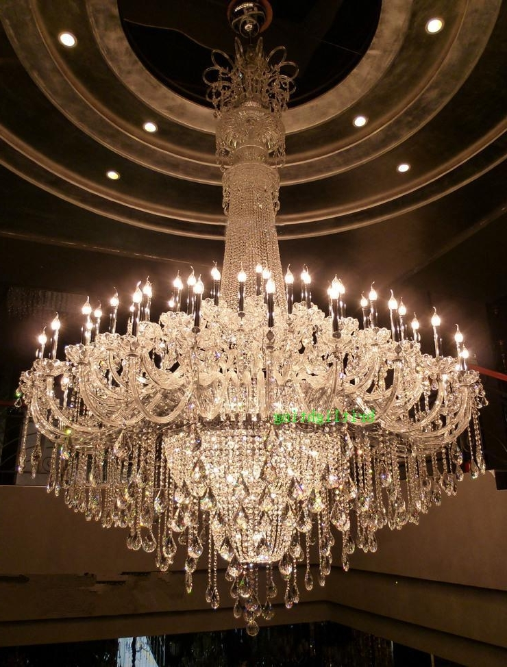 Most Up To Date Extra Large Crystal Chandeliers Pertaining To Large Crystal Chandelier Chrome Extra Large Chandelier For Hotel (View 9 of 10)