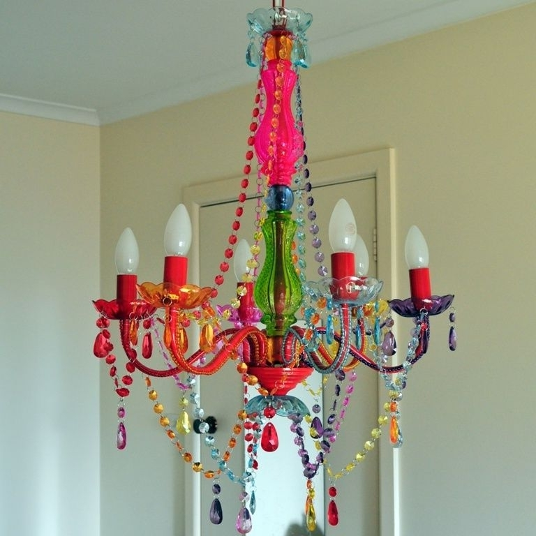 Most Up To Date Gypsy Chandeliers Within Large Colored Crystal Chandelier Light 6 Arm Gypsy Boho Crystals (View 9 of 10)