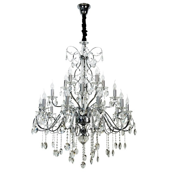Most Up To Date Madeleine 20 Light Egyption Crystal Chandelier In Chrome Regarding Egyptian Crystal Chandelier (View 6 of 10)