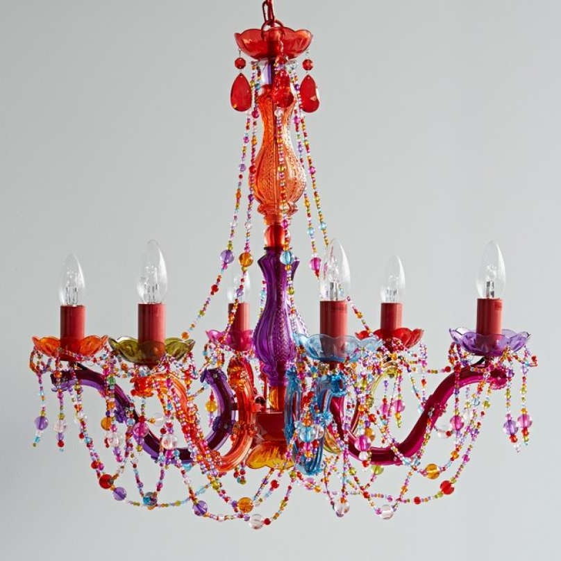 Most Up To Date Multi Coloured Chandelier Ceiling Light – Chandelier Designs Inside Coloured Chandeliers (View 9 of 10)