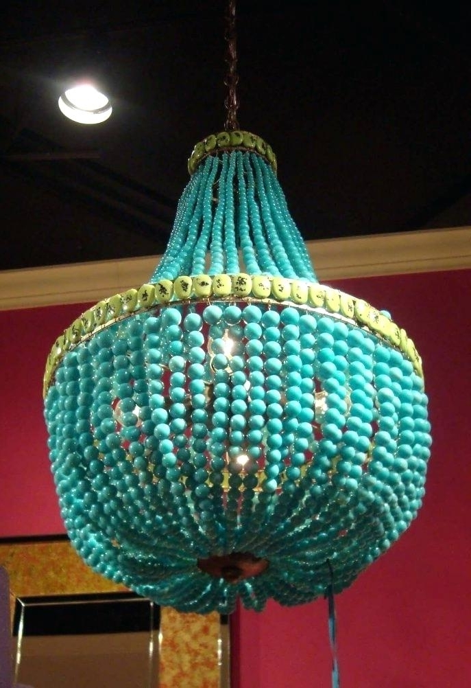 Most Up To Date Small Turquoise Beaded Chandeliers Intended For Beaded Turquoise Chandelier The Best Beaded Chandelier Ideas On Bead (View 8 of 10)