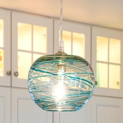 Most Up To Date Turquoise Glass Pendant Light Incredible Pair Of Lamp – Shirokov (View 6 of 10)
