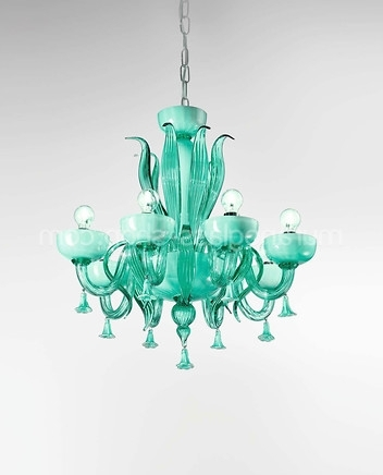 Murano Glass Shop Pertaining To Most Current Turquoise Chandelier Crystals (View 6 of 10)