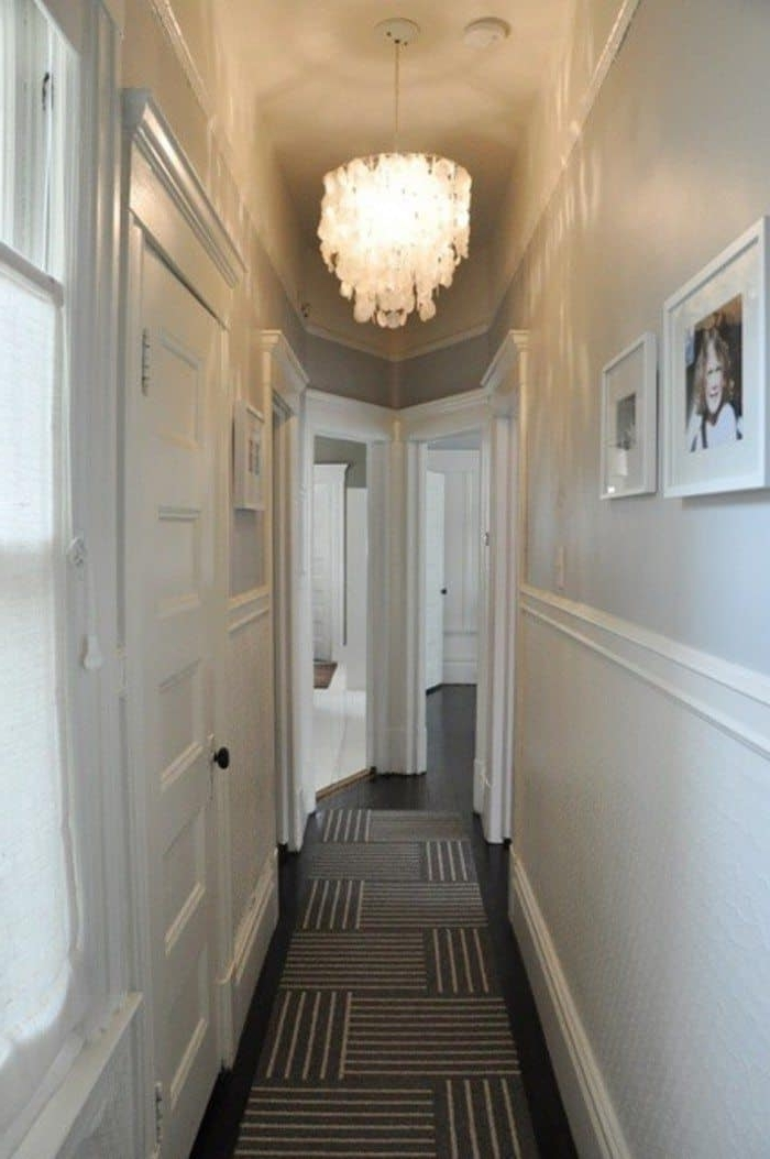 Narrow Small Hallway Painted In White Walls And Illuminated With With Best And Newest Small Hallway Chandeliers (Gallery 7 of 10)