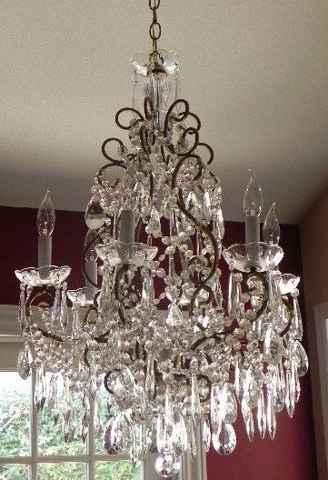 Newest 1940's French Chandelier (Gallery 1 of 10)
