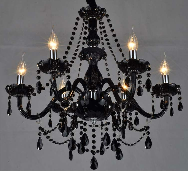 Newest Black Glass Chandeliers Pertaining To Black Glass Crystal Chandelier Buy Awesome Narciso 6 Lights Murano (View 9 of 10)