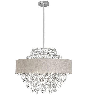 Newest Buy 12 Light Crystal Chandelier With Linen Cream Shade Shade Color With Cream Crystal Chandelier (View 6 of 10)