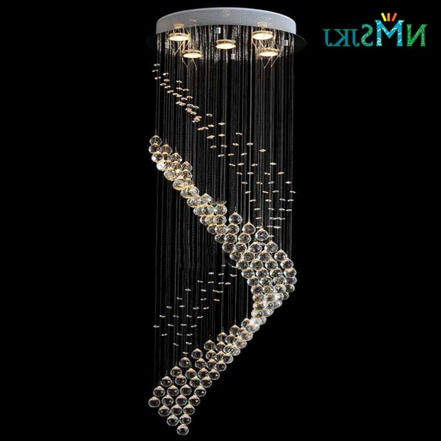 Newest Chandelier For Restaurant Throughout Modern Large Round Spiral Crystal Decoration Lighting Fixture (View 6 of 10)