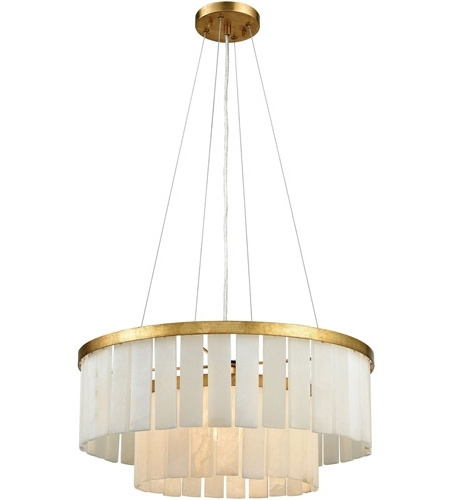 Newest Dimond Lighting 1142 013 Orchestra 1 Light 20 Inch Gold Leaf With Regard To Gold Leaf Chandelier (View 9 of 10)
