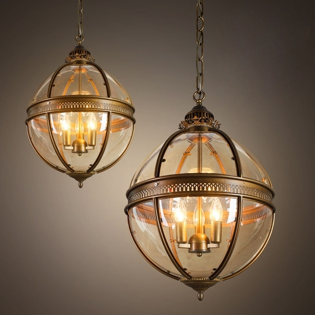 Newest Ecolight Vintage Globe Chandeliers 3 Lights E12 E14 Transparent For Globe Chandeliers (View 6 of 10)