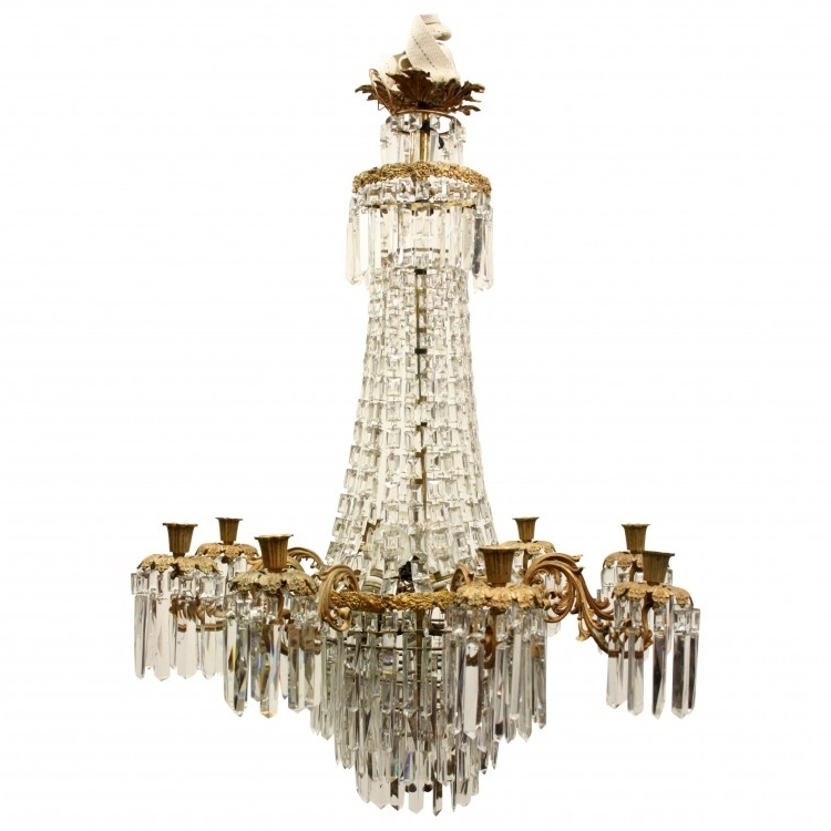 Newest Georgian Chandelier For Late Victorian Glass Chandelier (Gallery 3 of 10)