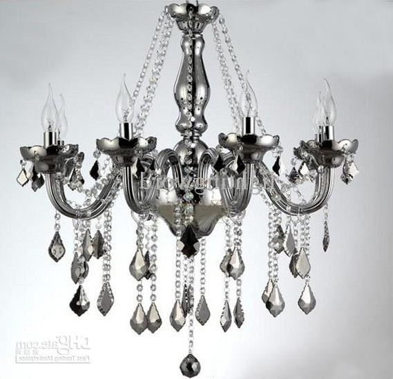 Newest Grey Chandeliers Pertaining To Bohemian Smoky Grey K9 Crystal Glass Chandelier Modern Fashion Art (Gallery 1 of 10)
