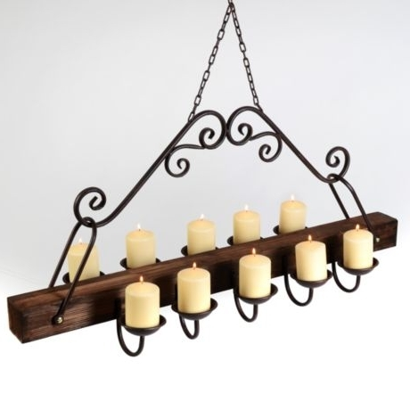 Newest Hanging Candelabra Chandeliers Inside Rustic Hanging Candle Chandelier (View 8 of 10)