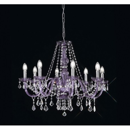 Newest Lead Crystal Chandelier Throughout Lead Crystal Chandelier 454/8/cr/mc Viola – Artital Lighting & Home (View 8 of 10)