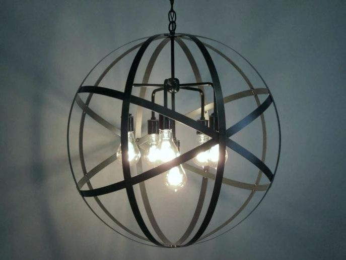 Newest Metal Ball Chandelier Metal Orb Chandelier Metal Ball Candle With Metal Ball Candle Chandeliers (View 8 of 10)