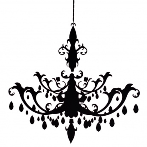 Newest Resize Chandelier Decal (Gallery 4 of 10)