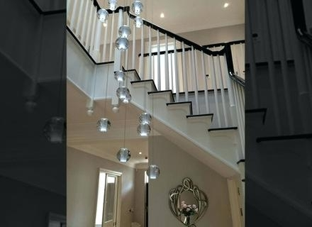Newest Stairwell Chandelier Lighting Also Long Stairwell Chandeliers Modern In Stairwell Chandeliers (View 4 of 10)