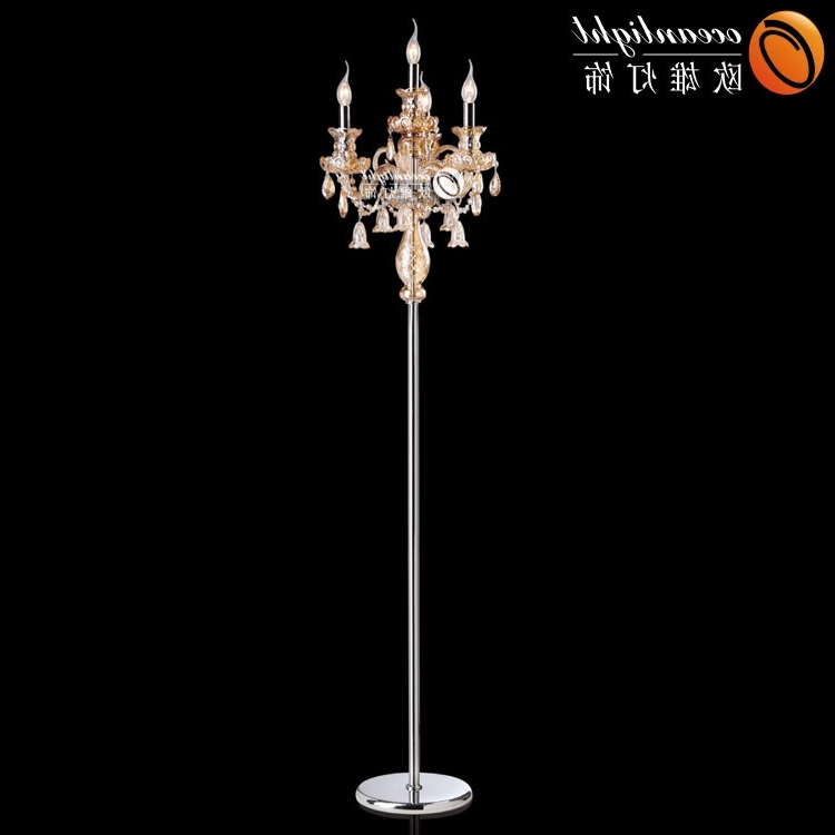 Newest Standing Chandeliers With Regard To Crystal Chandelier Floor Lamp Wholesale, Floor Lamp Suppliers – Alibaba (View 8 of 10)