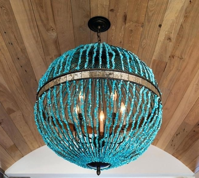 Newest Turquoise Orb Chandeliers Inside Alberto Orb Chandelier Category Bathroom Design Home Bunch Interior (Gallery 4 of 10)