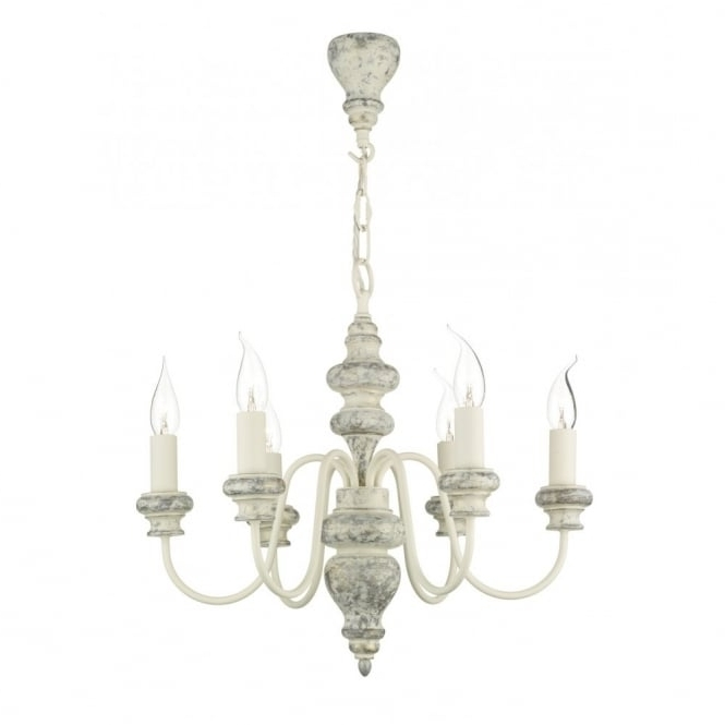 Newest Verona Large Distressed Cream Wooden Ceiling Light In Cream Chandelier Lights (Gallery 9 of 10)