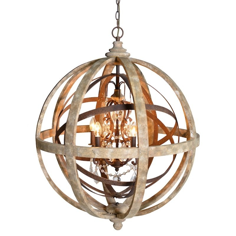 Orlando Large Globe Chandelier (Gallery 4 of 10)