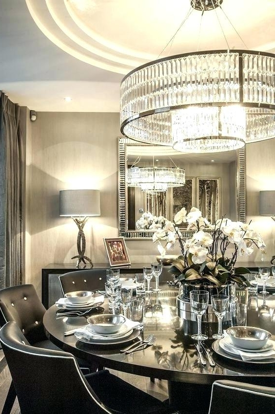 Oversized Chandeliers As Well As Modern Round Crystal Chandelier With Favorite Oversized Chandeliers (Gallery 8 of 10)