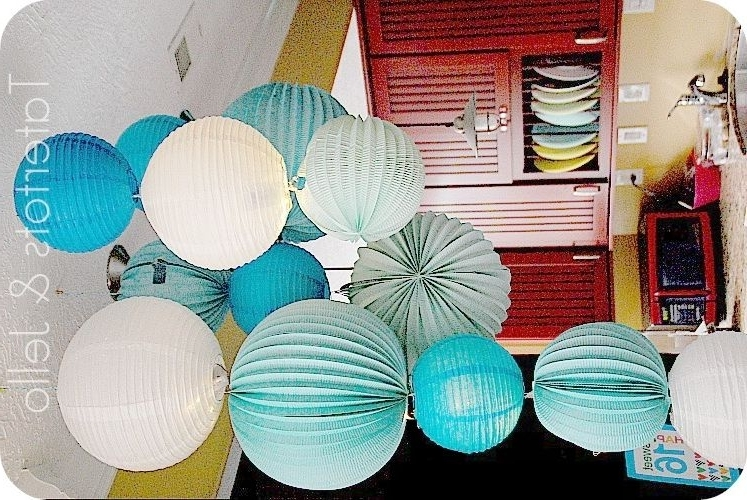 Paper Lantern Chandelier, Lantern Throughout Turquoise Lantern Chandeliers (View 8 of 10)