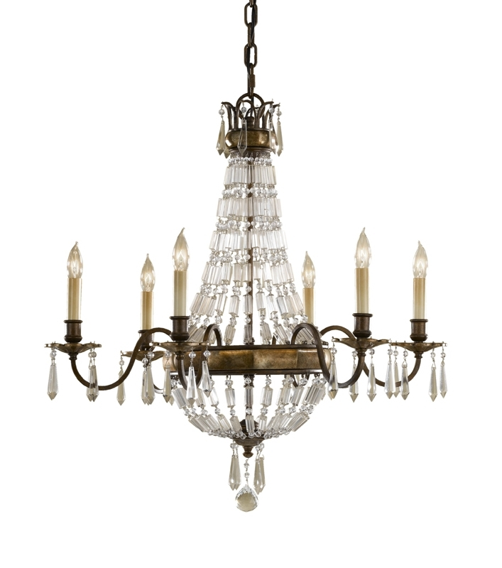 Paris 6 Arm Antique Bronze Crystal Chandelier Throughout 2018 Chandeliers Vintage (View 4 of 10)