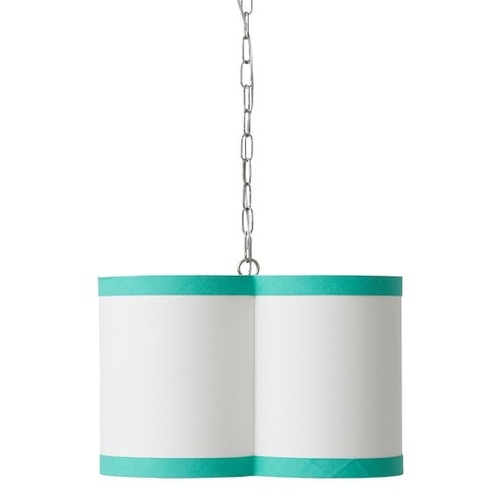 Pbteen Within Most Up To Date Turquoise Drum Chandeliers (View 8 of 10)