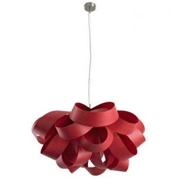 Pendant Lamp Within Small Red Chandelier (View 5 of 10)