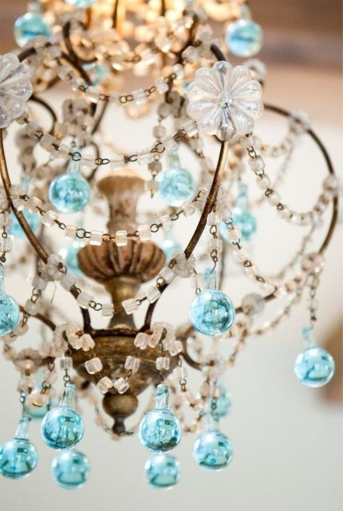 Featured Photo of Turquoise And Gold Chandeliers