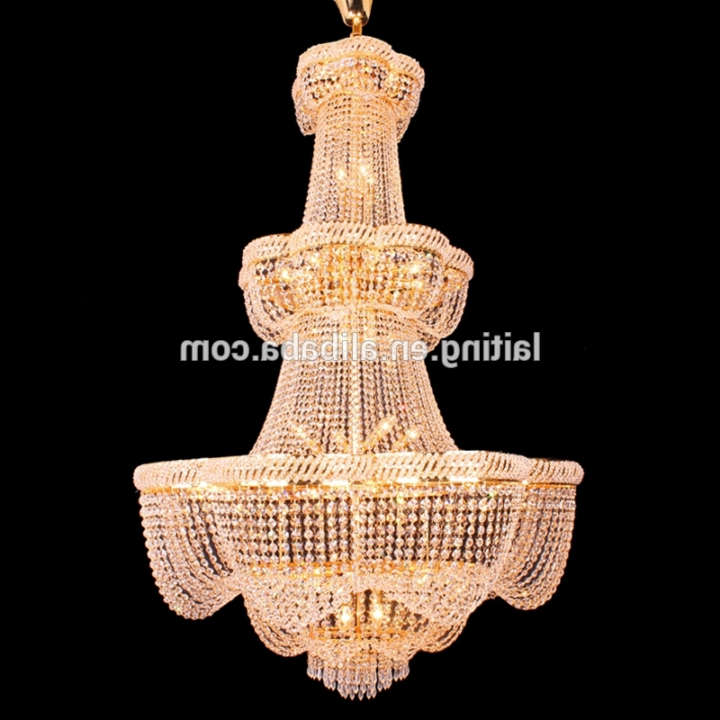 Popular Big Crystal Chandelier With Grand Clear K9 Crystal Chandelier Prices Wholesale Big Crystal (View 8 of 10)