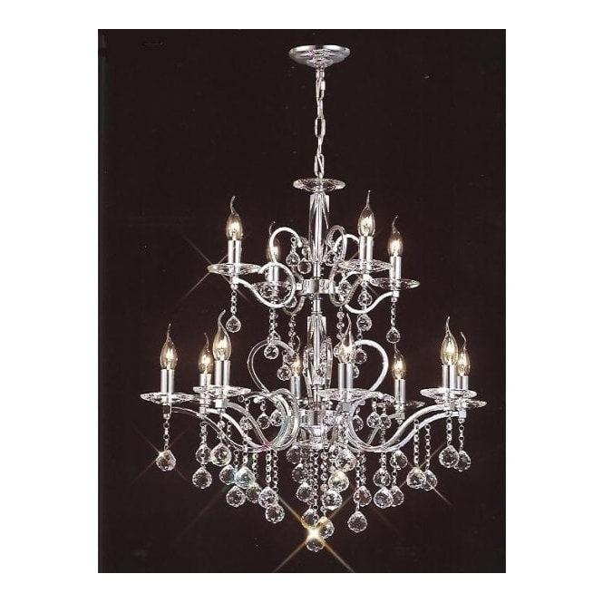 Popular Buy Large Lights Chrome Egyptian Lead Crystal Chandelier (View 8 of 10)