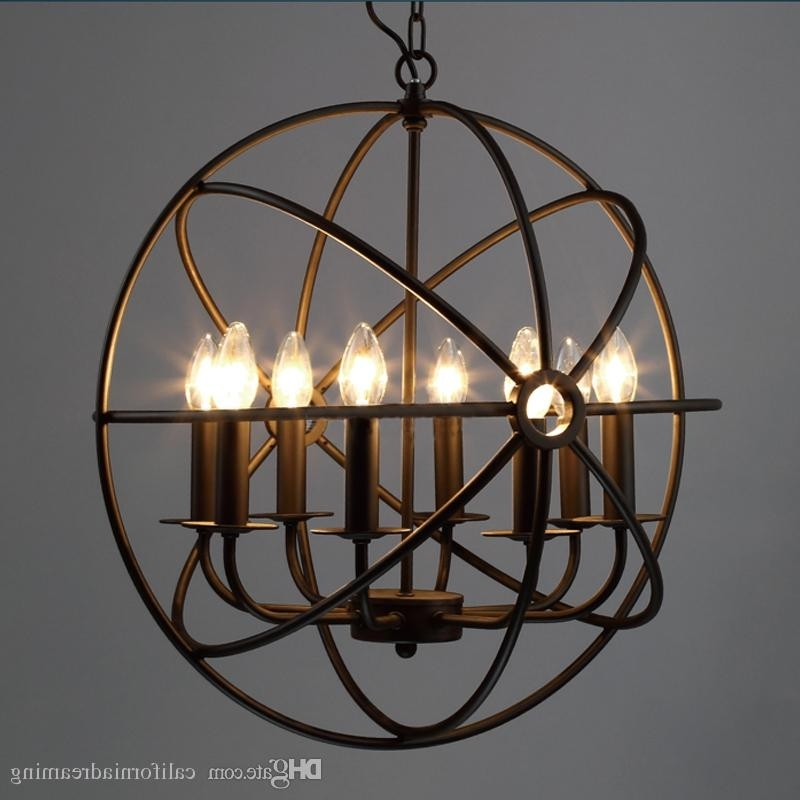 Popular Chandelier Globe Pertaining To 4 Lt 6 Lt 8 Head Globe Chandelier Rh Lighting Restoration Vintage (View 3 of 10)