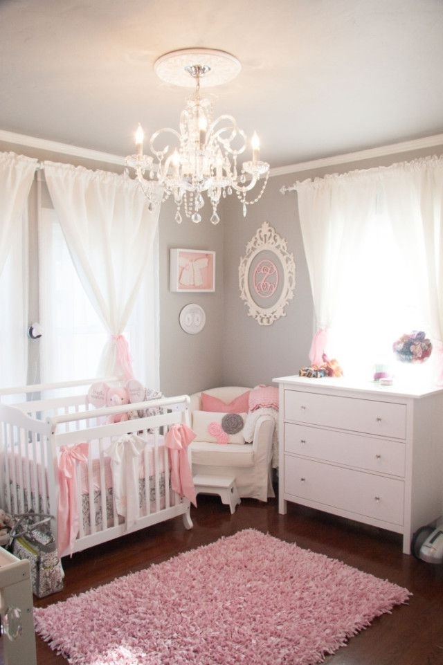 Popular Chandeliers For Baby Girl Room Throughout 365 Best Pink And Grey Rooms Images On Pinterest (View 6 of 10)