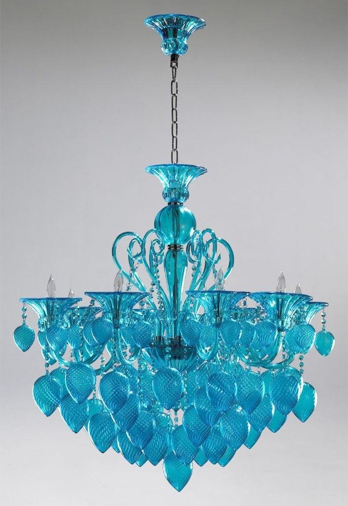 Popular Enya Sea Glass Chandelier Everything Turquoise For Modern Home Teal Pertaining To Turquoise Glass Chandelier Lighting (View 7 of 10)